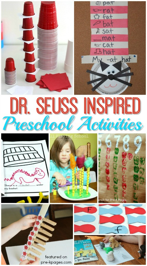Dr Seuss Craft Ideas For Preschoolers  Dr Seuss Activities for Preschoolers Pre K Pages