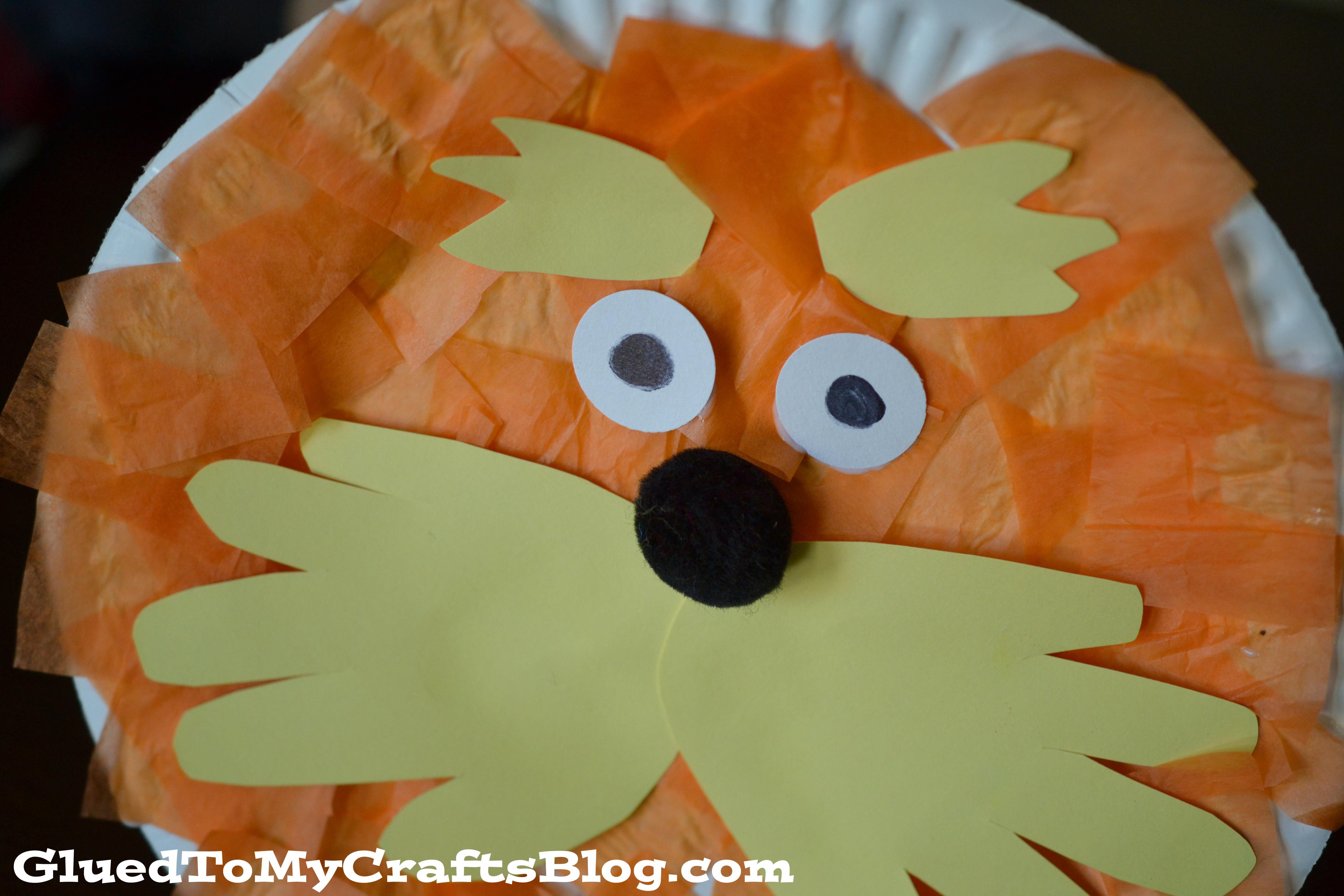 Dr Seuss Craft Ideas For Preschoolers  Lorax Paper Plate Craft