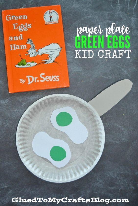 Dr Seuss Craft Ideas For Preschoolers  Paper Plate Dr Seuss Green Eggs Kid Craft