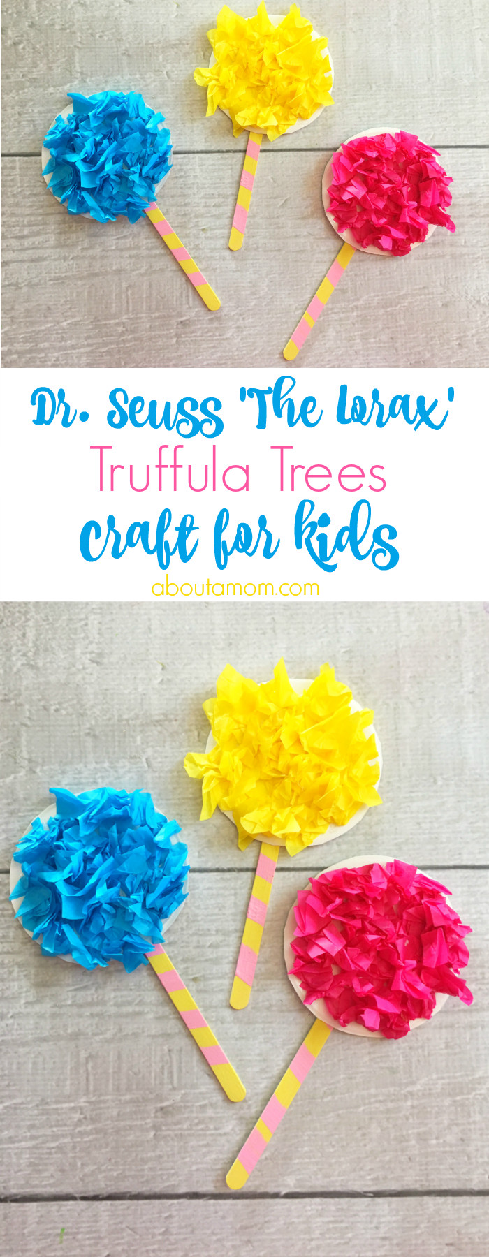Dr Seuss Craft Ideas For Preschoolers  Truffula Trees Craft inspired by The Lorax