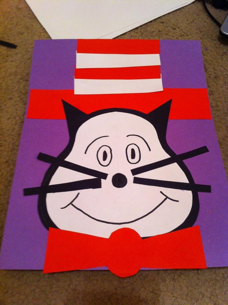 Dr Seuss Craft Ideas For Preschoolers  Cat in the hat craft for preschoolers Dr suess