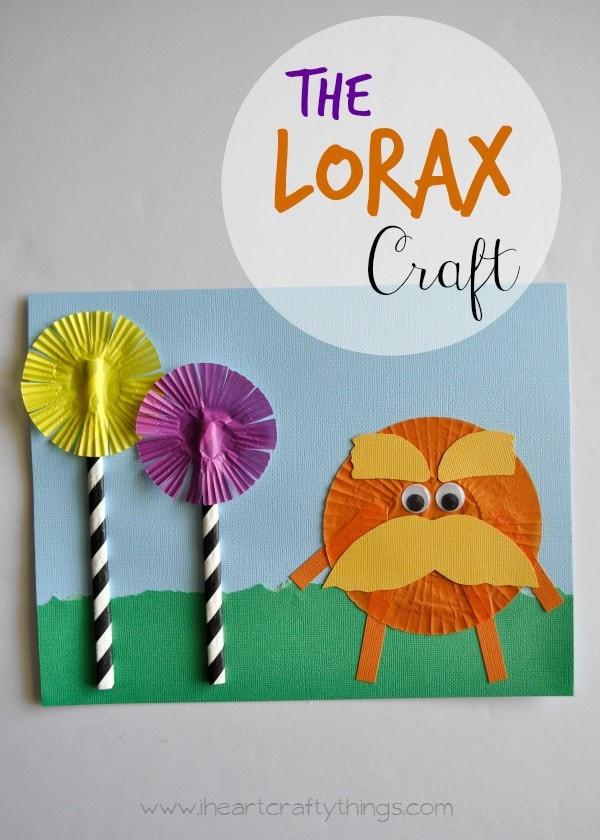 Dr Seuss Craft Ideas For Preschoolers  The Lorax Dr Seuss Kids Craft