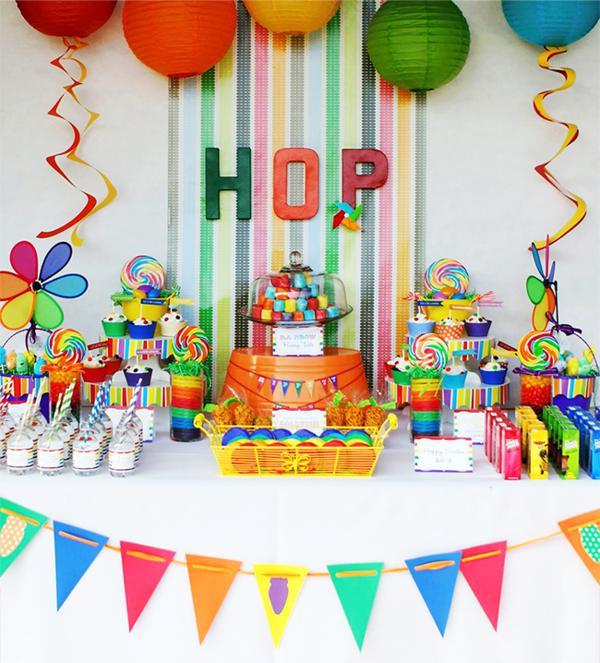 Easter Birthday Party Ideas For Boys  Kara s Party Ideas Rainbow Easter Hop Girl Boy Colorful