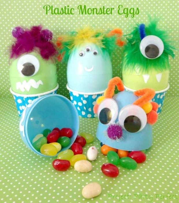 Easter Birthday Party Ideas For Boys  Monster Eggs DIY Party Craft Ideas