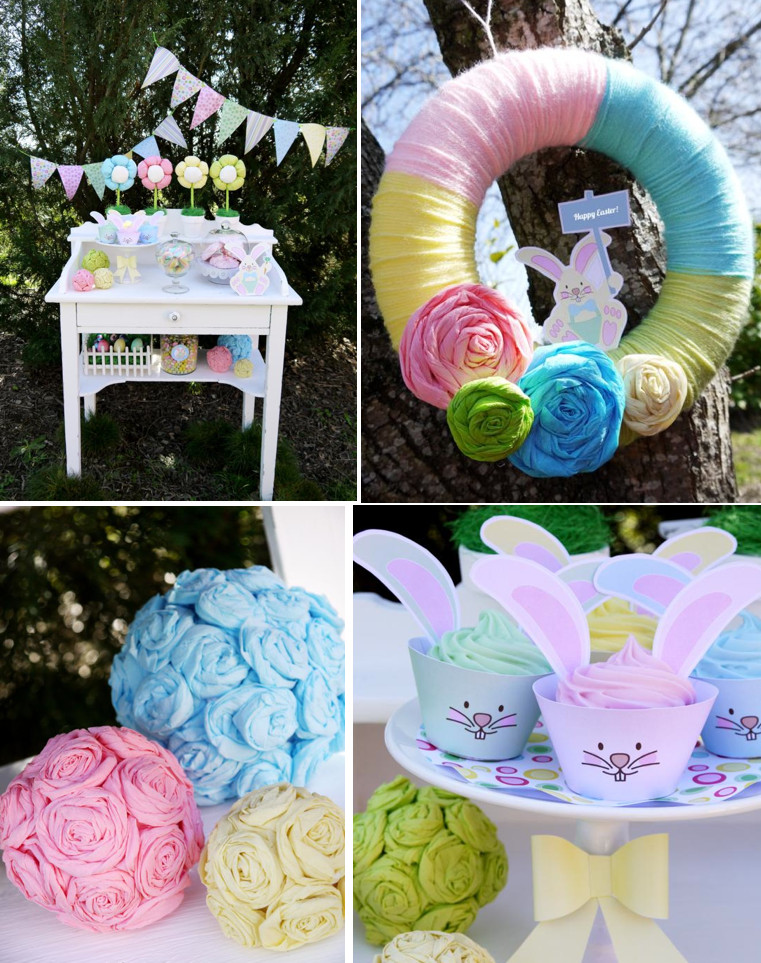 Easter Birthday Party Ideas For Boys  Kara s Party Ideas Kids Pastel Easter Bunny Egg Hunt Boy