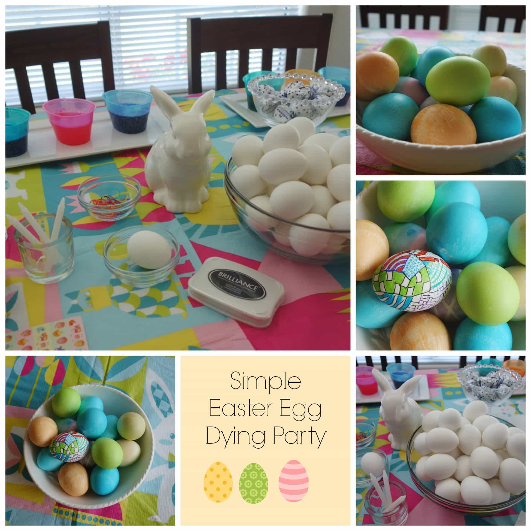 Easter Egg Dying Party Ideas  Simple Easter Egg Dying Party Momma Can