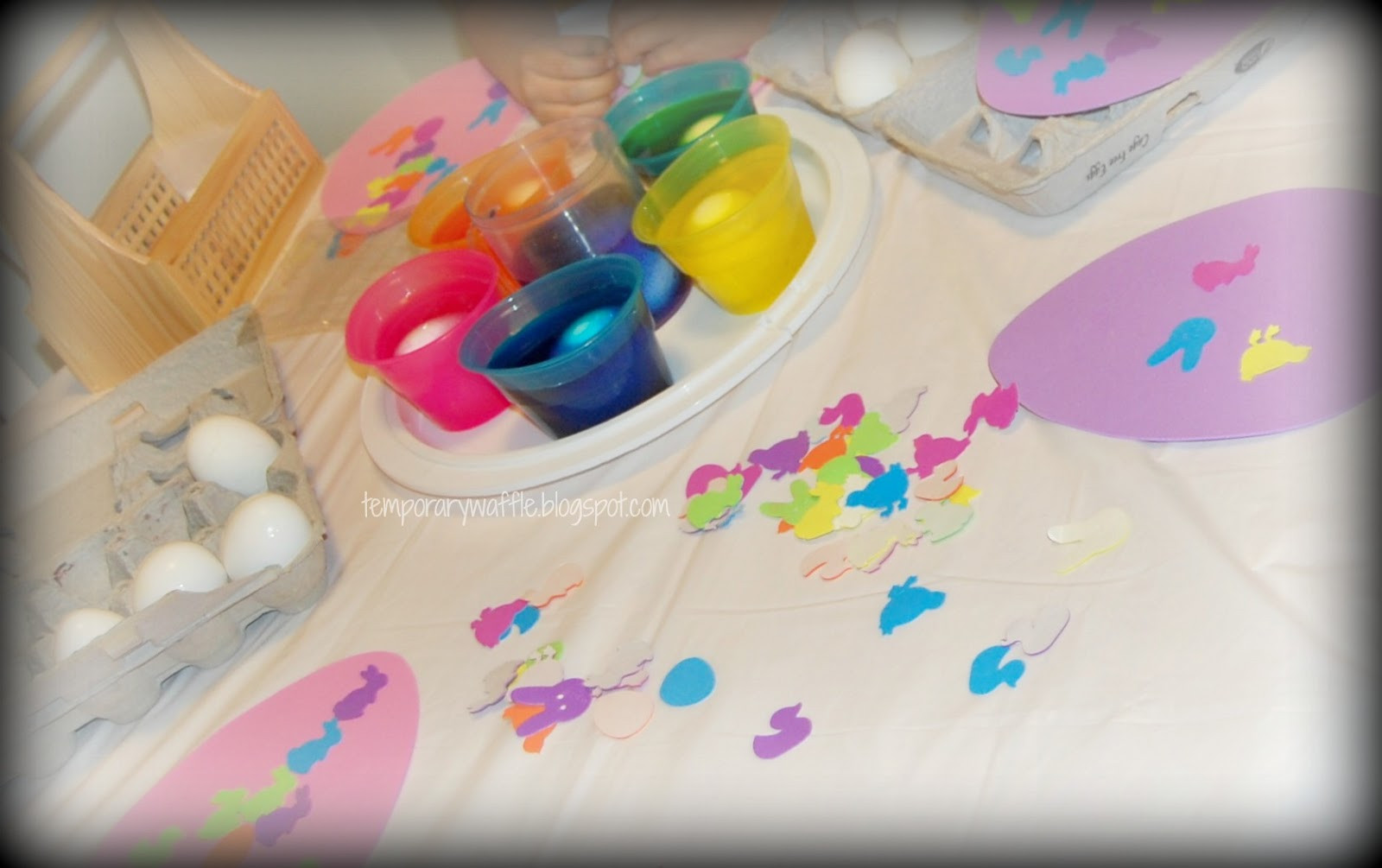 Easter Egg Dying Party Ideas  Temporary Waffle Our PAASt Easter Egg Dying Party