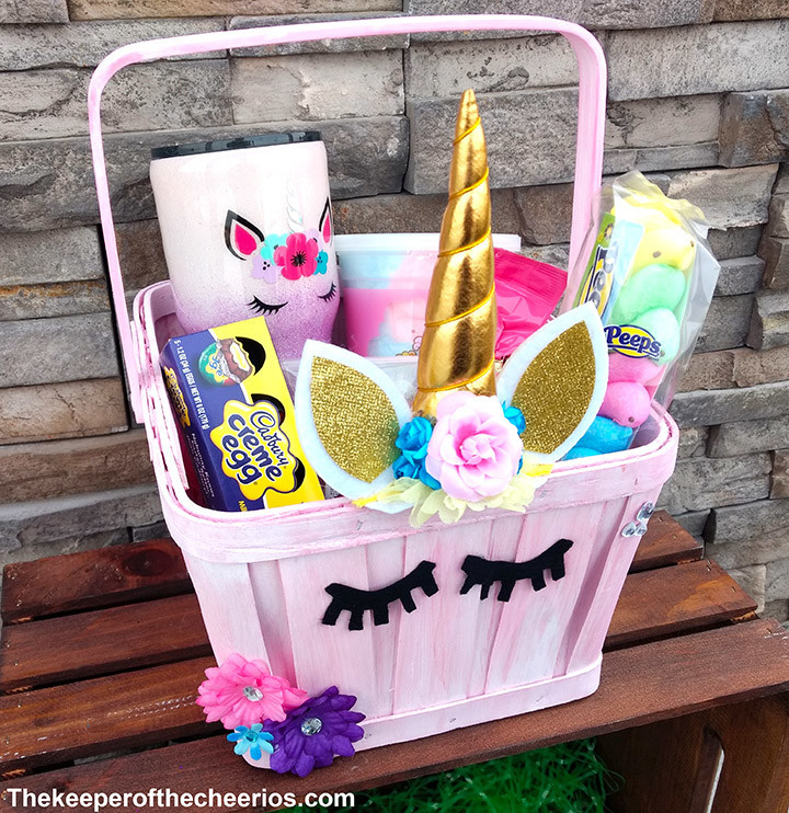 Easter Gift Ideas For Girlfriend  Unicorn Easter Basket The Keeper of the Cheerios