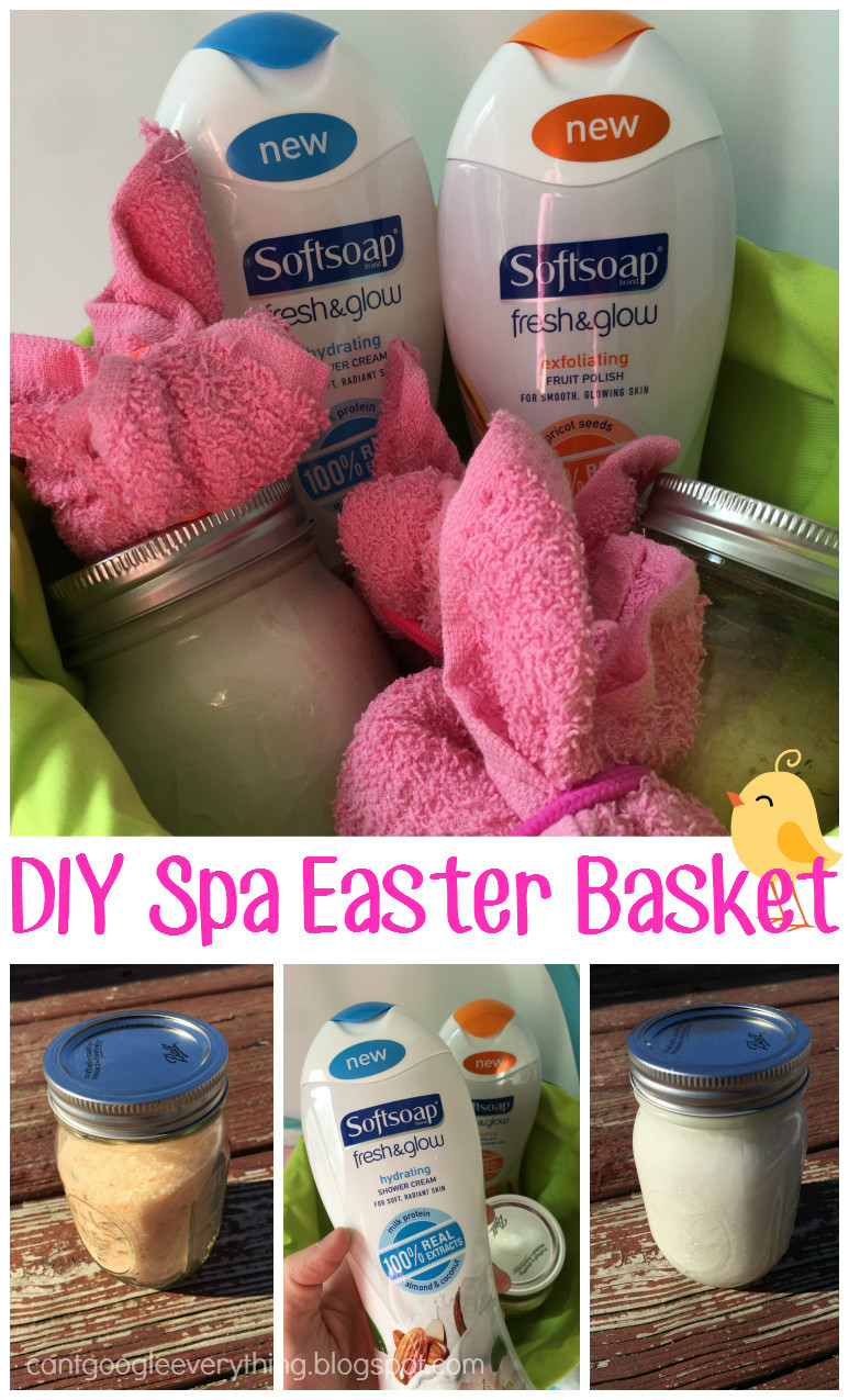Easter Gift Ideas For Girlfriend  Spa Easter Basket with Softsoap Fresh and Glow Perfect