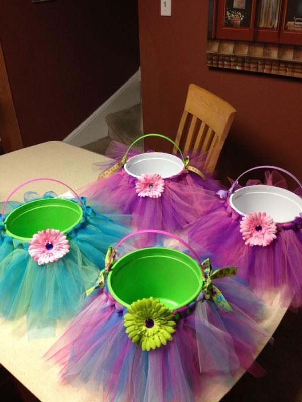 Easter Gift Ideas For Girlfriend  Easter Baskets for Little Girls Make Little Tulle Tutus