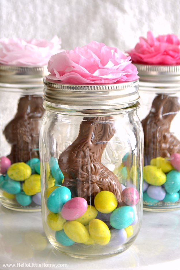 Easter Gift Ideas For Girlfriend  Mason Jar Easter Baskets Cute Easy