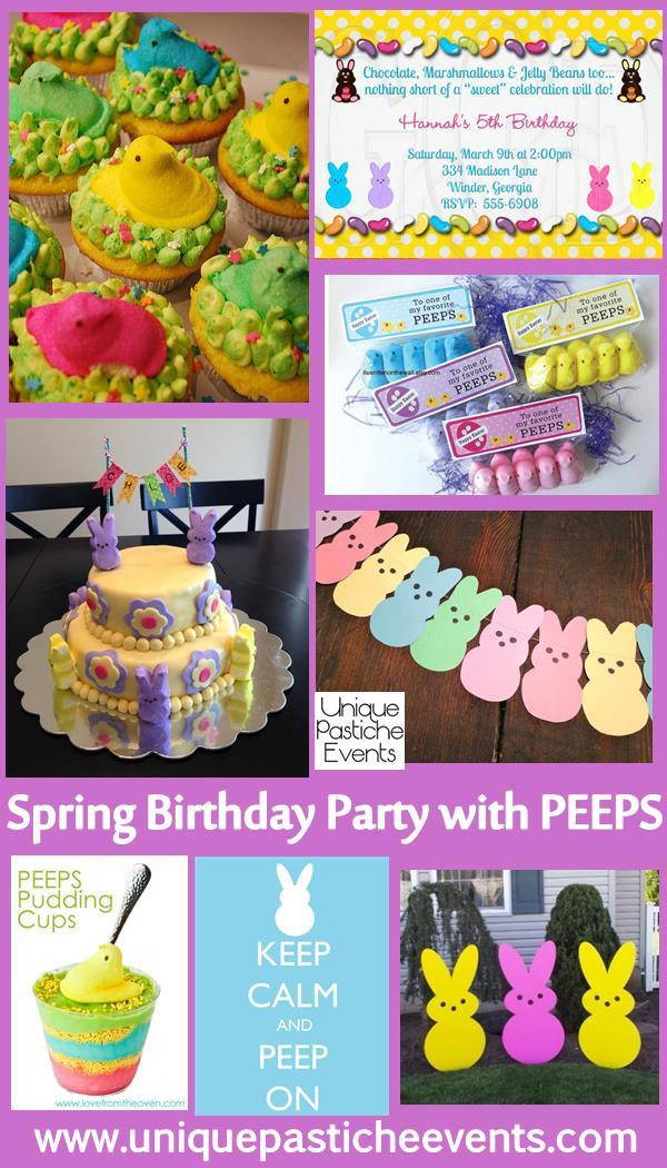 Easter Kid Party Ideas  You're Invited Easter Peeps Birthday Party for Kids