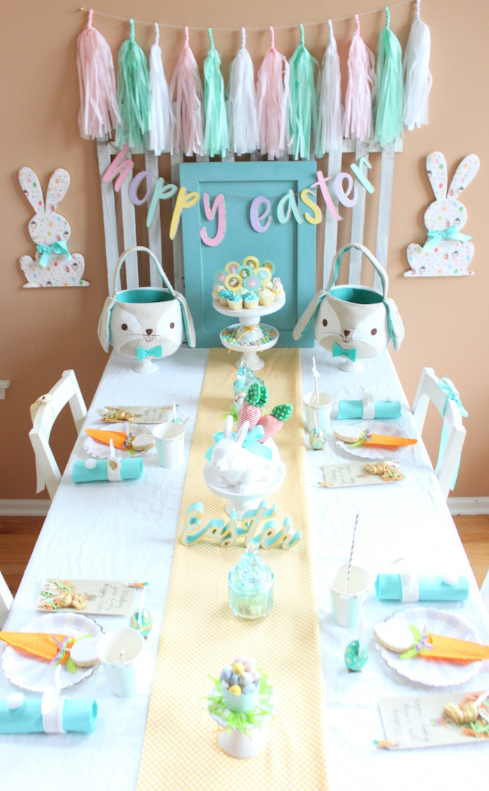 Easter Kid Party Ideas  Kara s Party Ideas Hoppy Easter Party for Kids