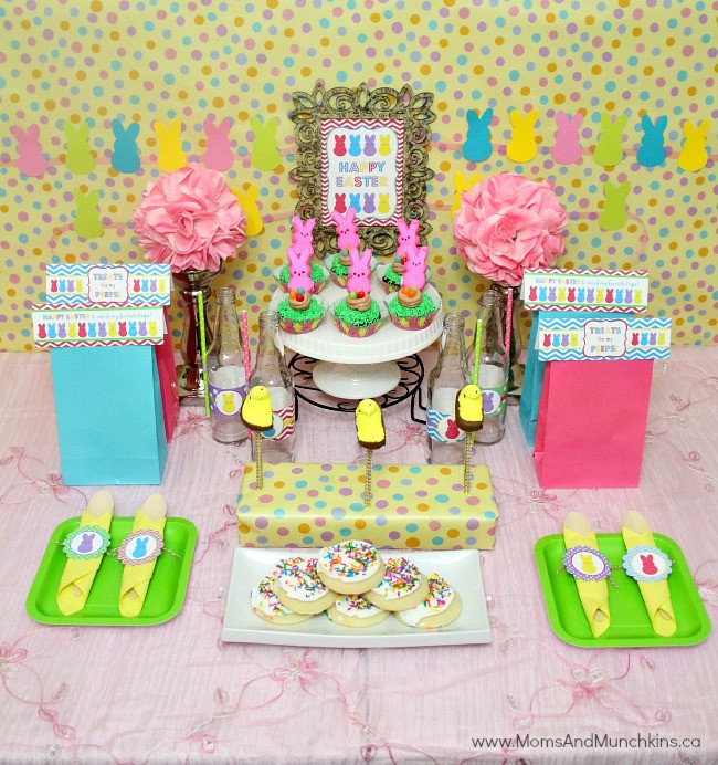 Easter Kid Party Ideas  Peeps Easter Party Ideas Moms & Munchkins