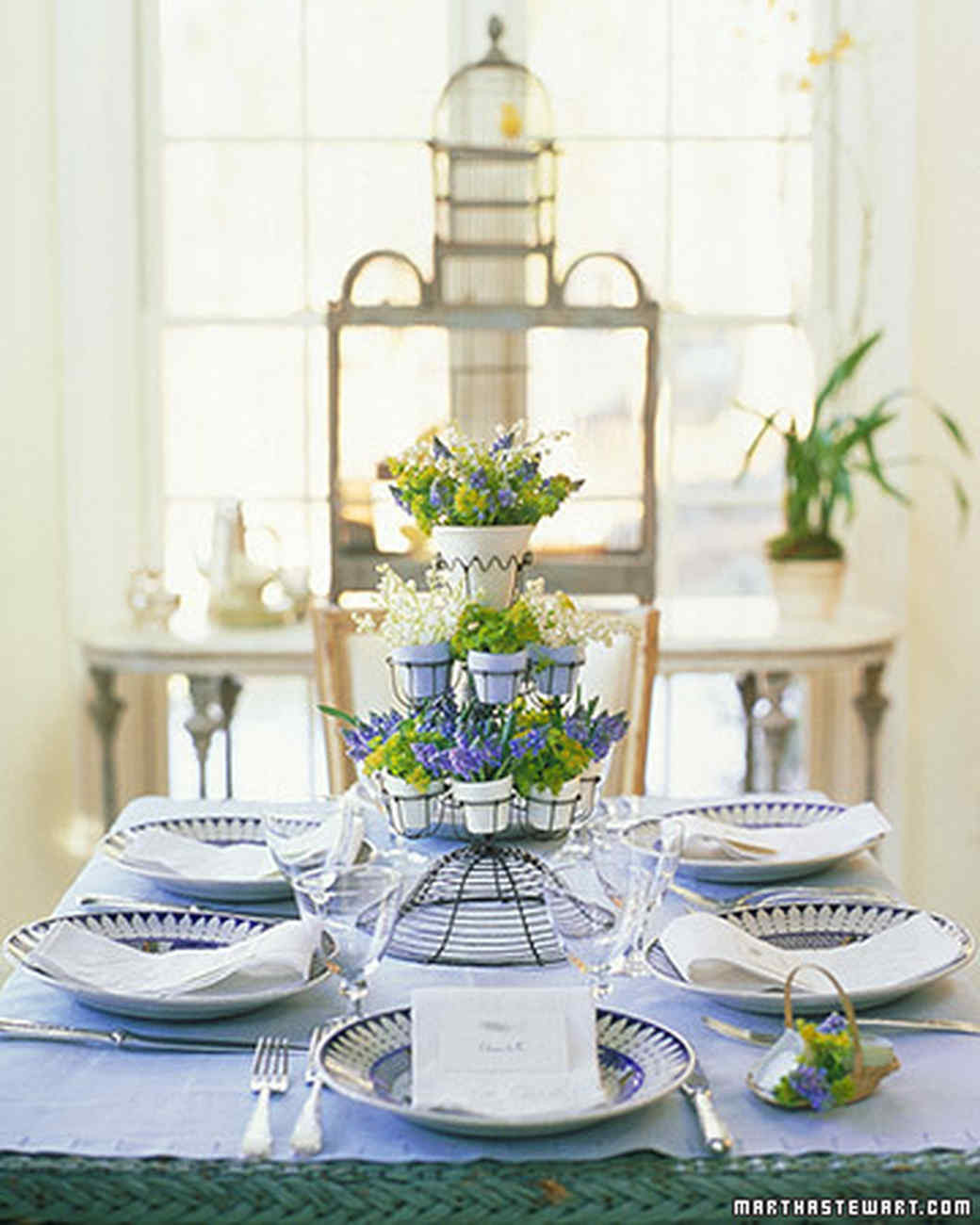 Easter Party Ideas Martha Stewart  Easter and Spring Centerpieces