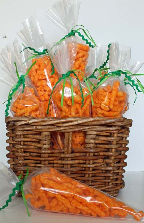 "Easter Snack Ideas Party  ""Easter Treats "" Cheetos in a frosting bag What a"