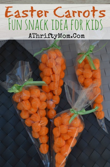 Easter Snack Ideas Party  Easter Carrots Fun Snack Idea for Kids Easter Snack A