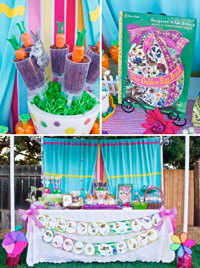 """Easter Sunday Party Ideas  Kara s Party Ideas """"The Golden Egg Book"""" Themed Boy Girl"""
