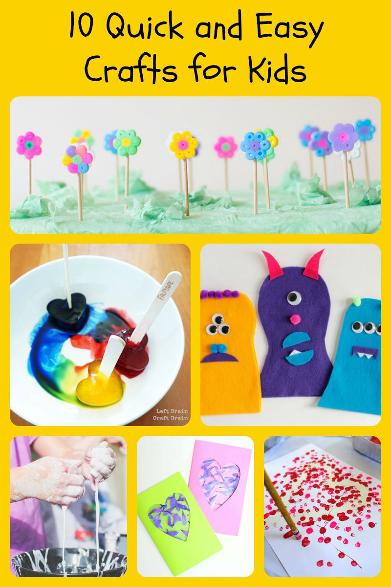 Easy Craft Ideas For Kids  10 Quick and Easy Crafts for Kids 5 Minutes for Mom