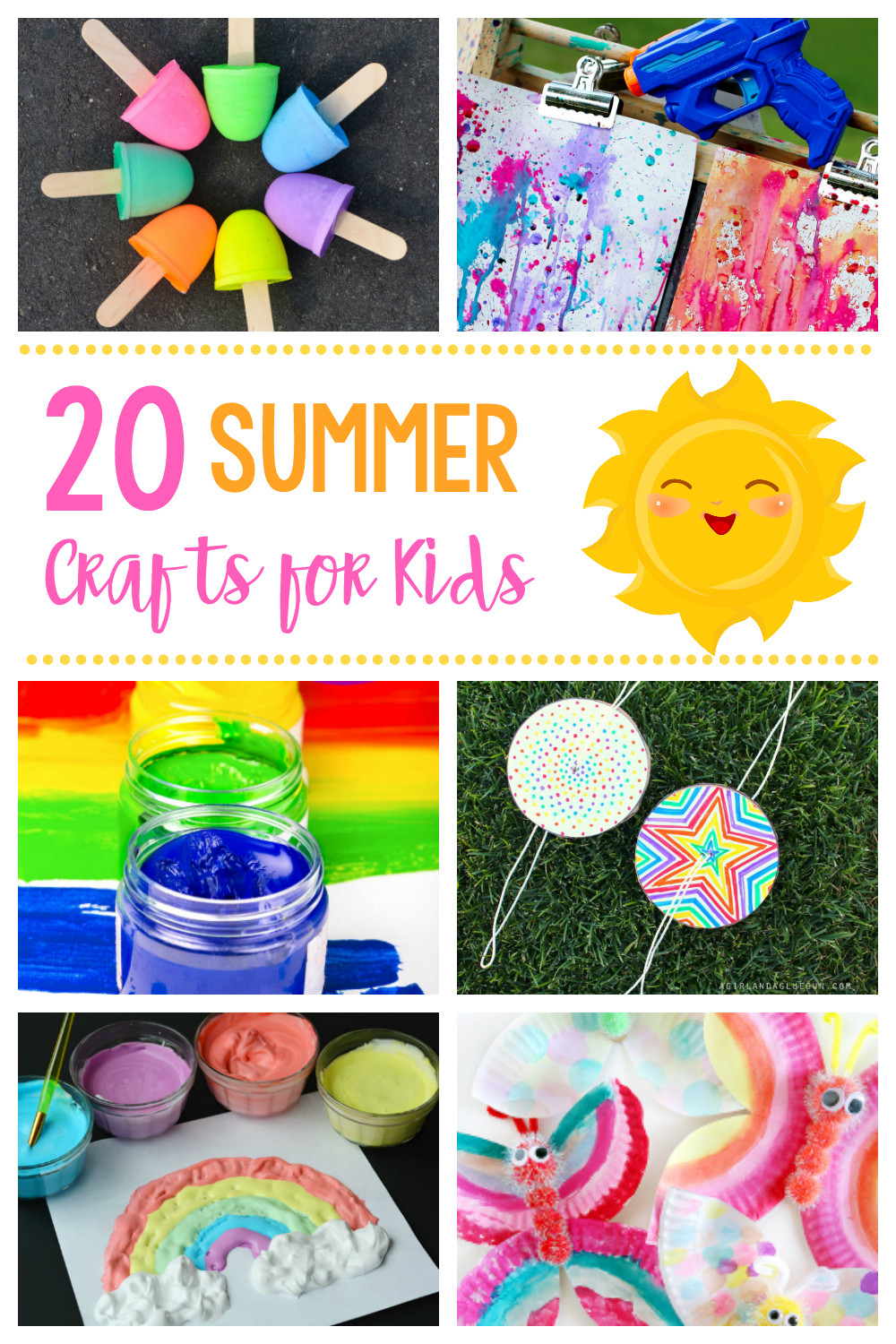 Easy Craft Ideas For Kids  20 Simple & Fun Summer Crafts for Kids