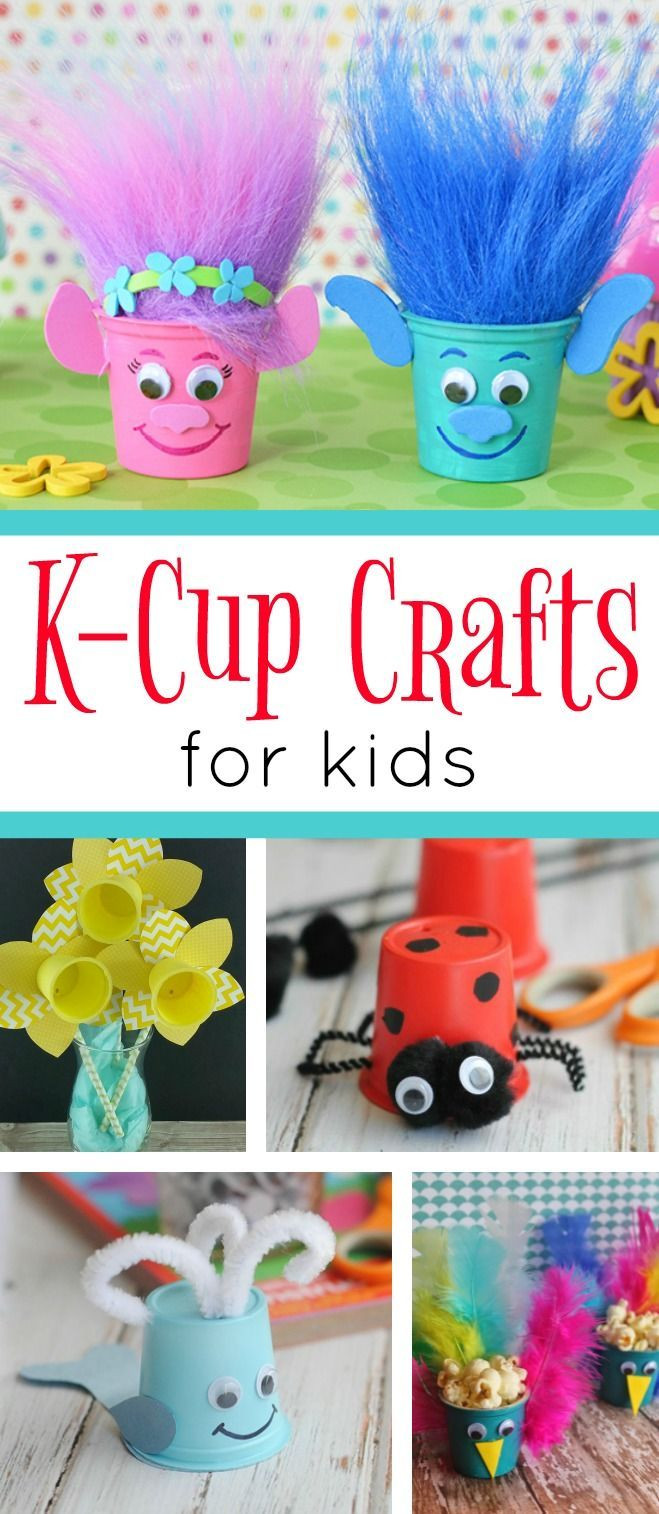 Easy Craft Ideas For Kids  A fun collection of K Cup Crafts for kids These cute and