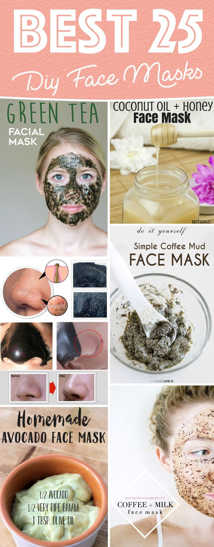 Easy DIY Face Mask  25 best ideas about Homemade Face Masks on Pinterest