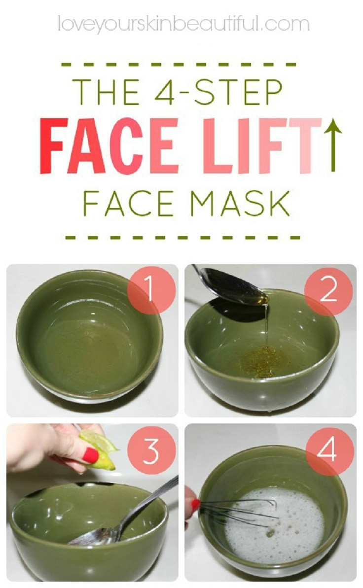 Easy DIY Face Mask  9 Leading DIY Home Reme s for Skin Tightening and Sagging