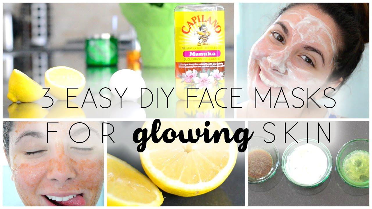 Easy DIY Face Mask  3 Easy DIY Face Masks ♡ For GLOWING Skin