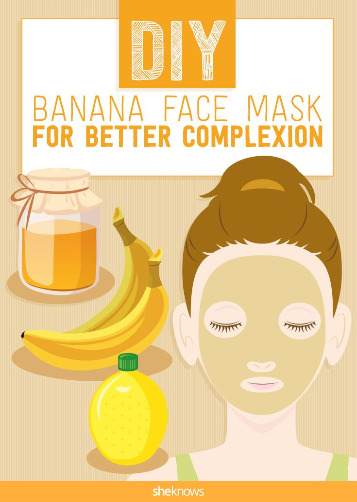 Easy DIY Face Mask  Nourish tired skin with this homemade banana face mask