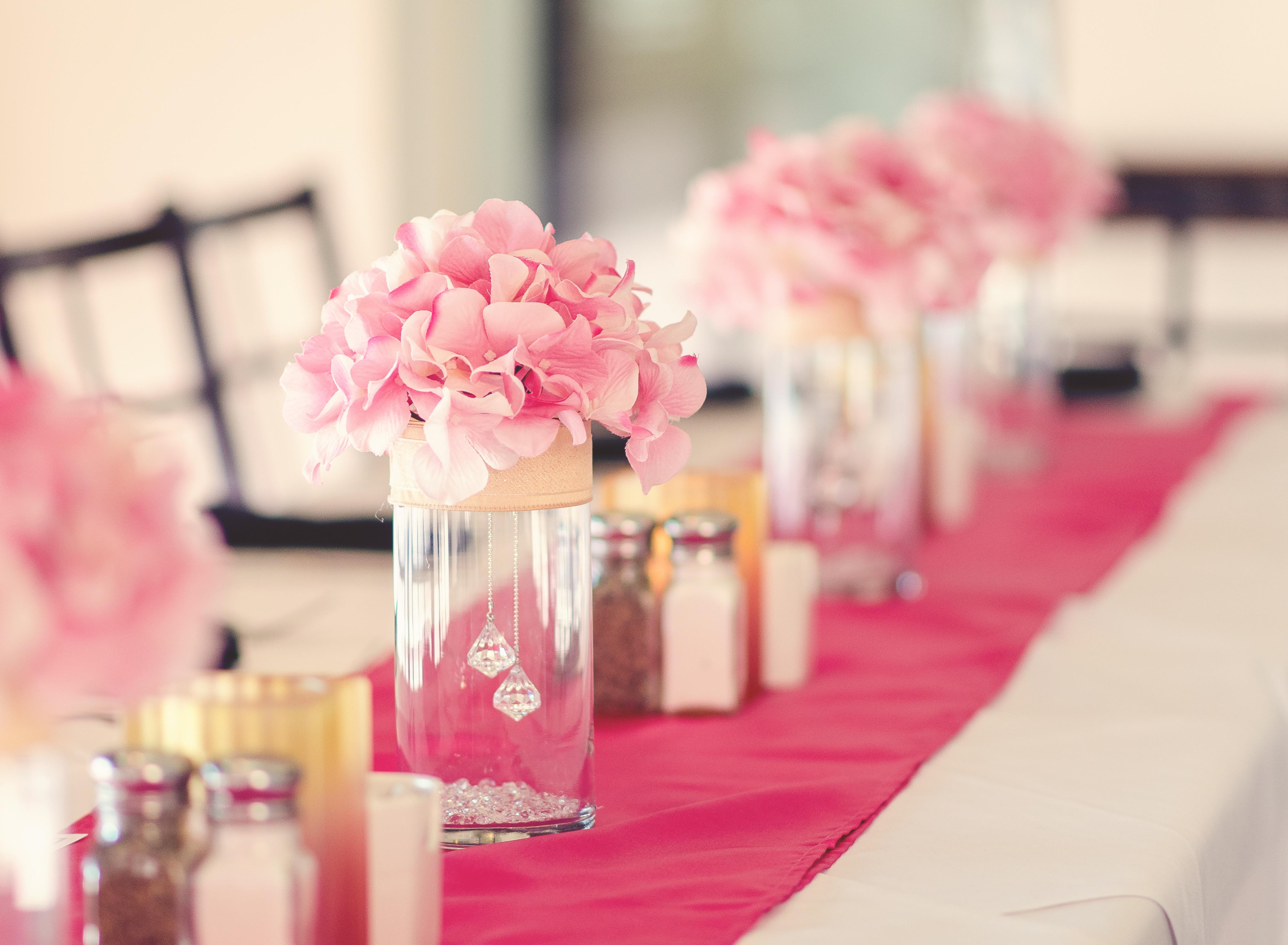 Elegant Engagement Party Ideas  Engagement Dinner Centerpiece whole decorations