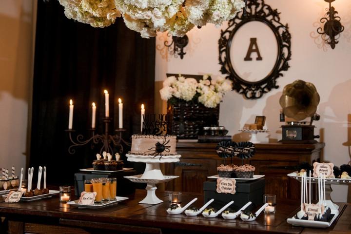 Elegant Engagement Party Ideas  Elegant Halloween Inspired Engagement Party Ideas