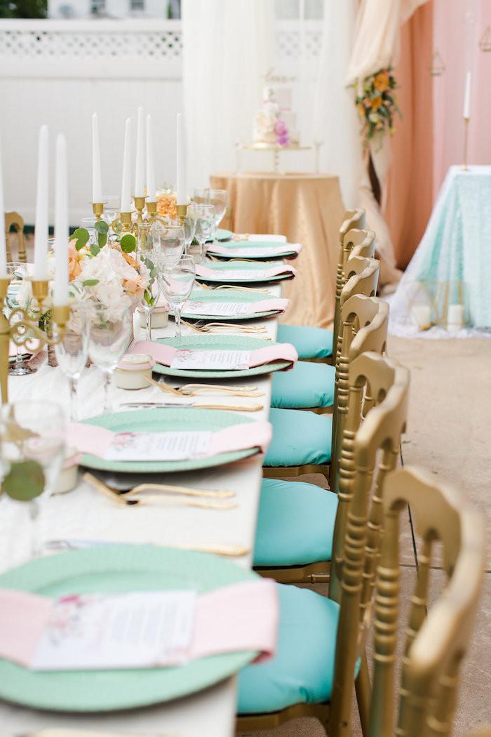 Elegant Engagement Party Ideas  Kara s Party Ideas Elegant Backyard Wedding
