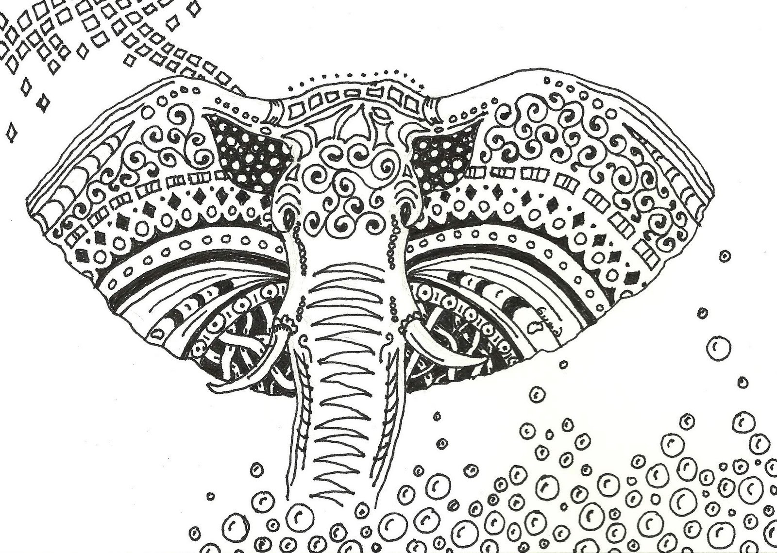 Elephant Coloring Book For Adults  byrds words December 2010