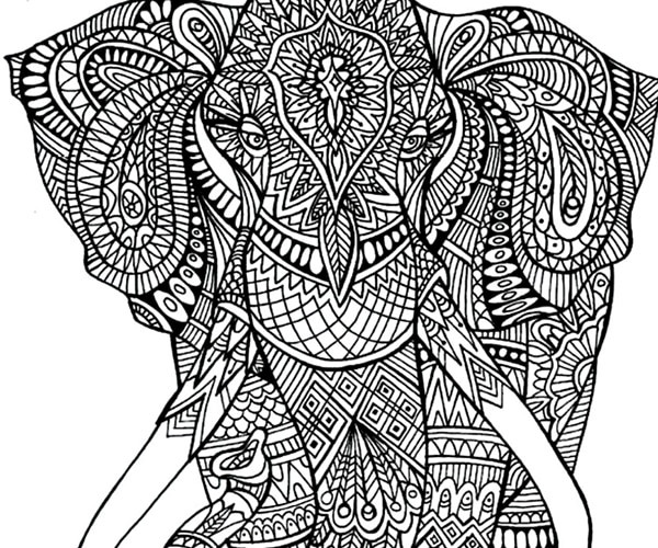 Elephant Coloring Book For Adults  Express Yourself 11 Free Adult Coloring Pages thegoodstuff