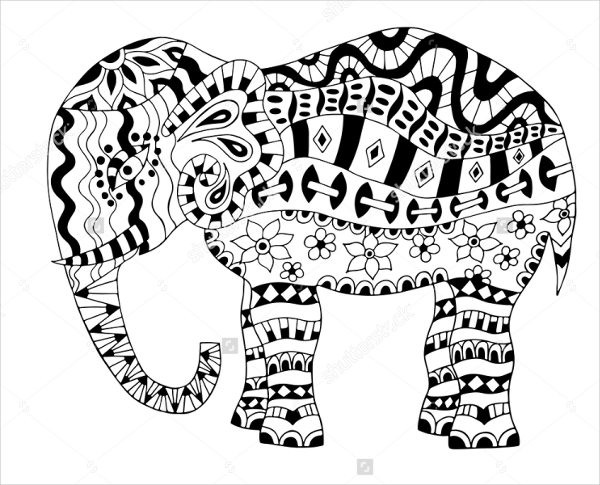Elephant Coloring Book For Adults  9 Elephant Coloring Pages Free Sample Example Format