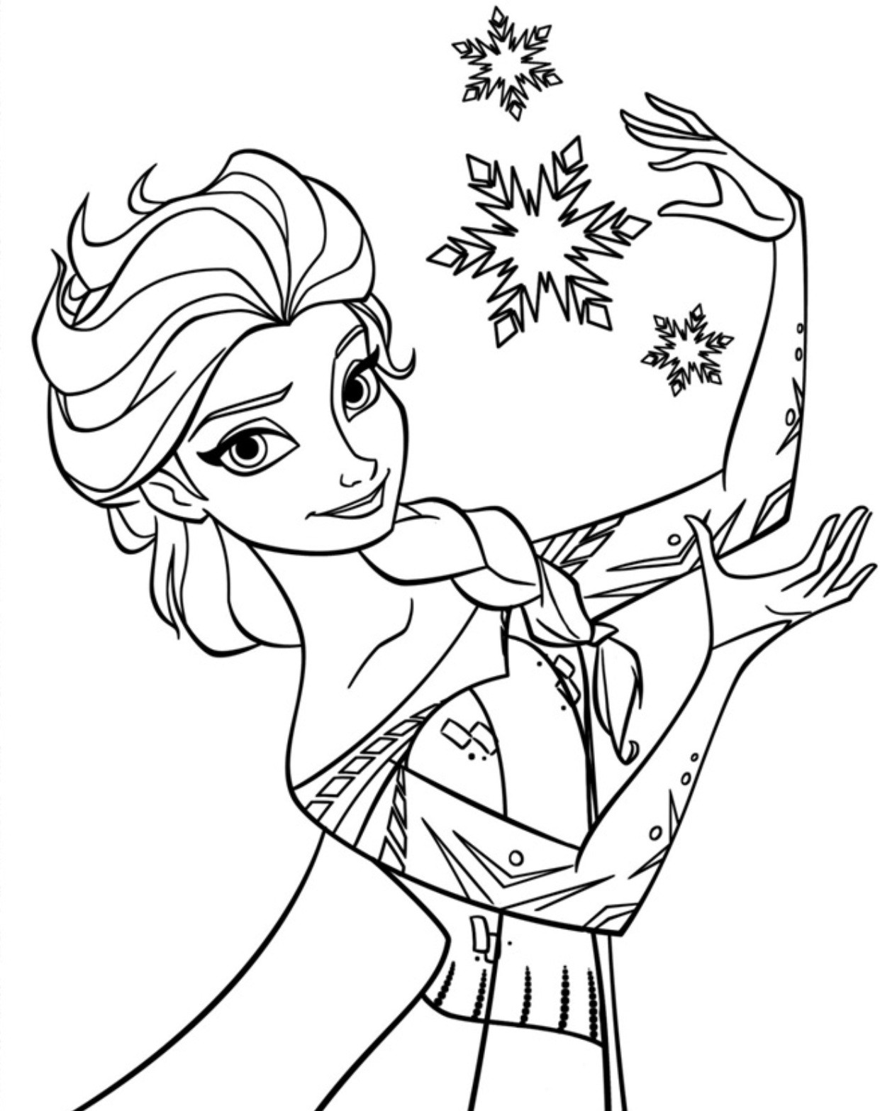 Elsa Coloring Sheet  Free Printable Elsa Coloring Pages for Kids Best