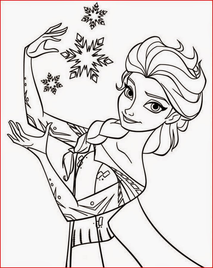 Elsa Coloring Sheet  Coloring Pages Elsa from Frozen Free Printable Coloring Pages