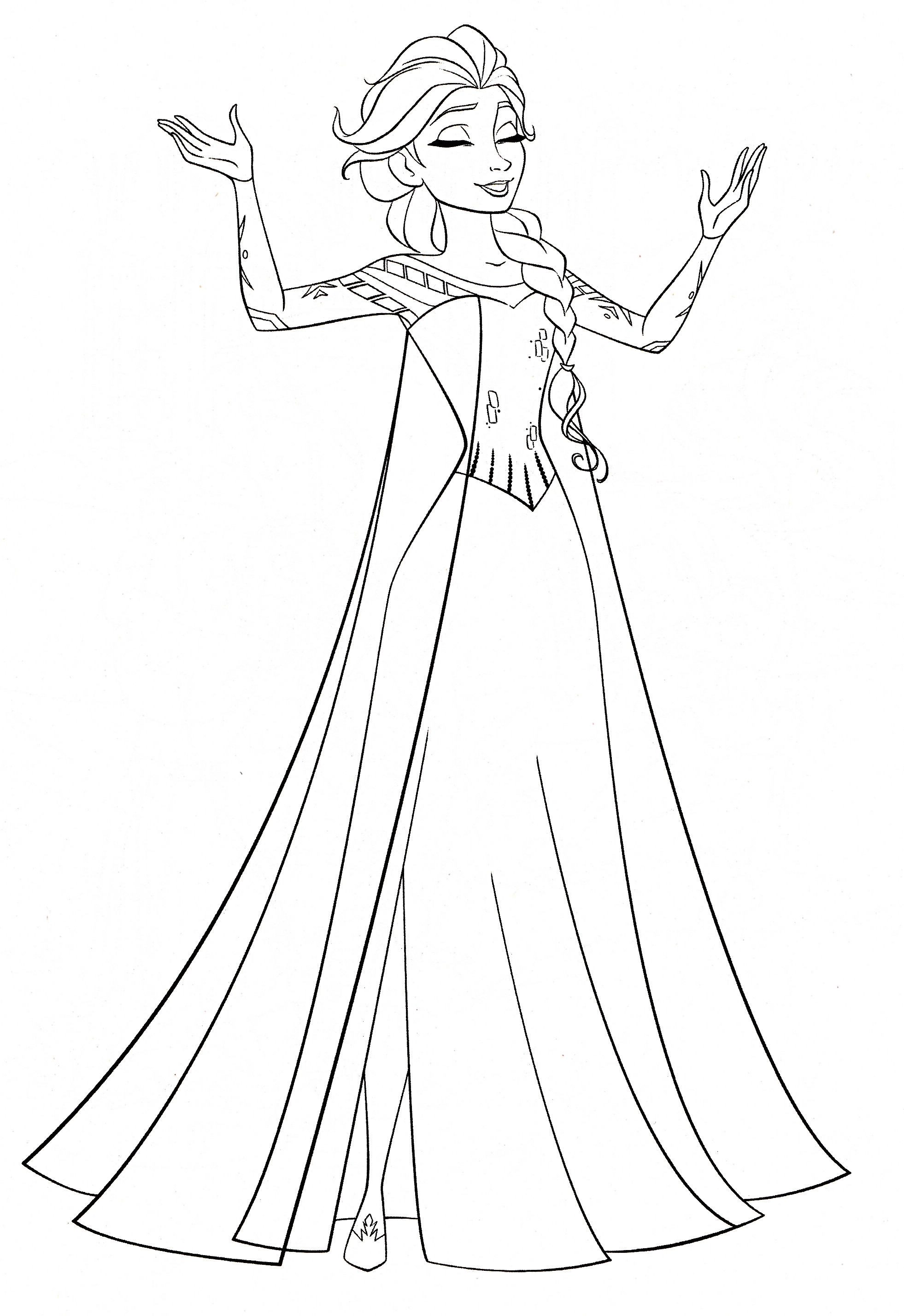 Elsa Coloring Sheet  30 FREE Frozen Colouring Pages