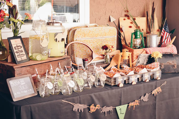 End Of Summer Party Ideas  Kara s Party Ideas End of Summer Retro Camping Party
