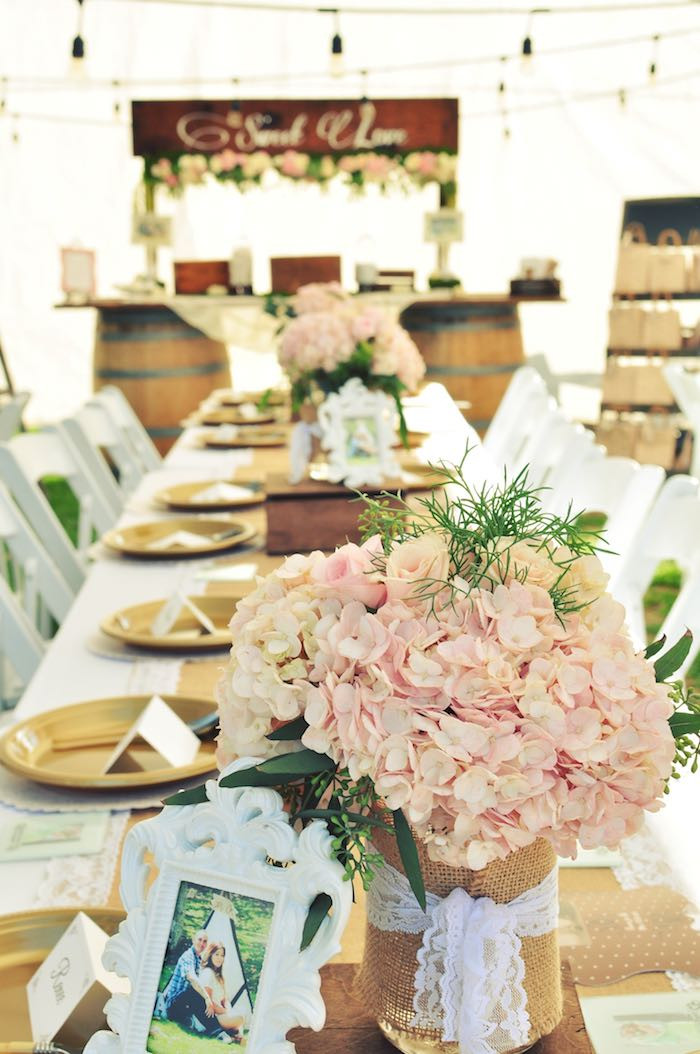 Engagement Party Theme Ideas  Kara s Party Ideas Rustic Chic Engagement Party