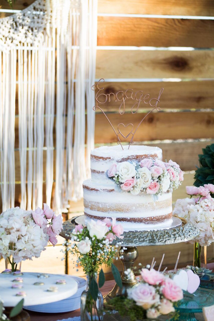 Engagement Party Theme Ideas  Kara s Party Ideas Boho Rustic Chic Engagement Party