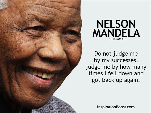 Famous Inspiring Quotes  Nelson Mandela Famous Success Quotes