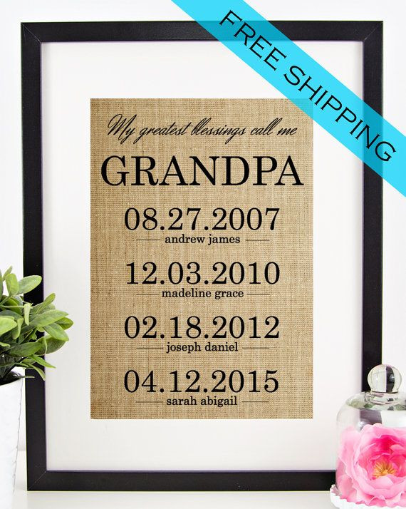 Father'S Day Gift Ideas For Grandpa  1000 ideas about Grandfather Gifts on Pinterest