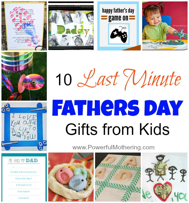 Father'S Day Gift Ideas From Child  10 Last Minute Fathers Day Gifts from Kids