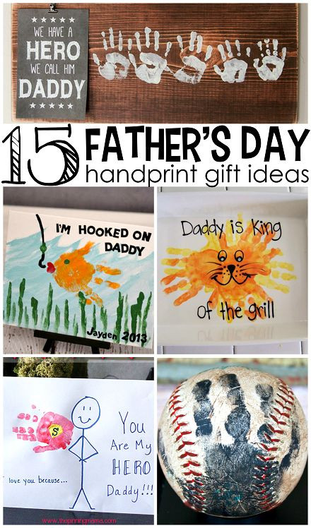 Father'S Day Gift Ideas From Child  Father s Day Handprint Gift Ideas from Kids