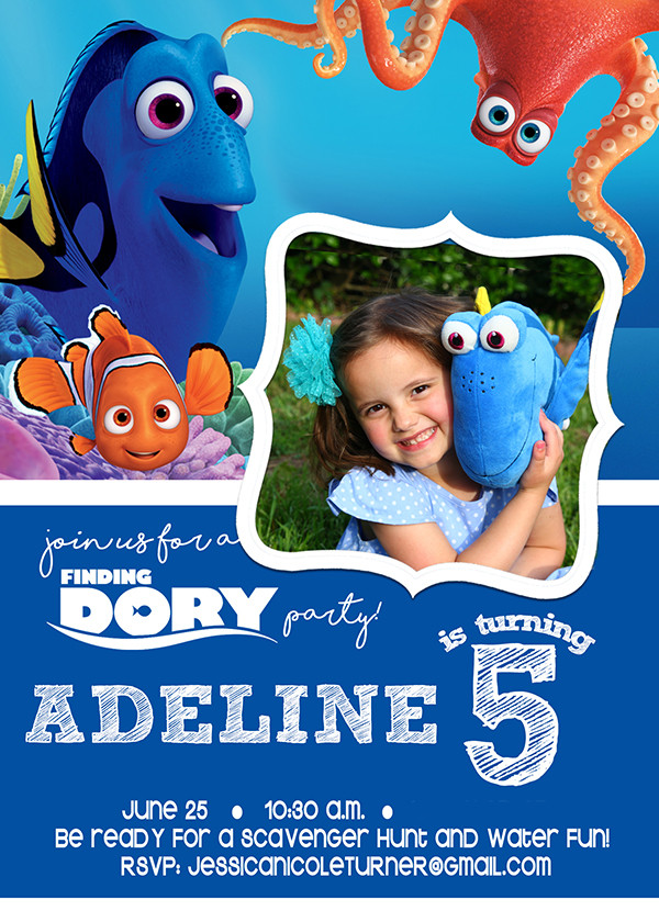 Finding Dory Birthday Invitations  Finding Dory Party Activities Decorations & More The