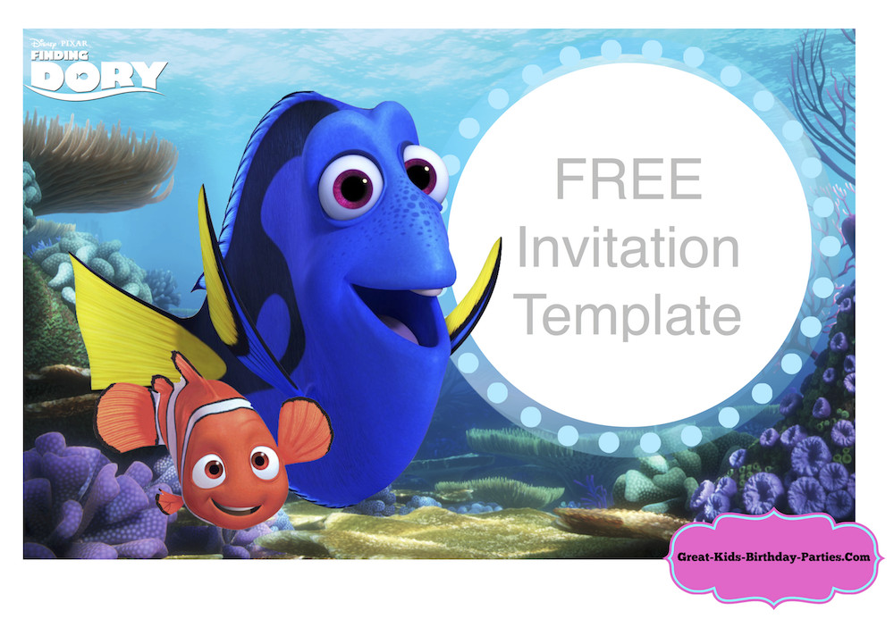 Finding Dory Birthday Invitations  Finding Dory Party
