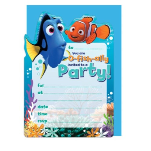 Finding Dory Birthday Invitations  Finding Nemo Party Supplies & Decorations Character
