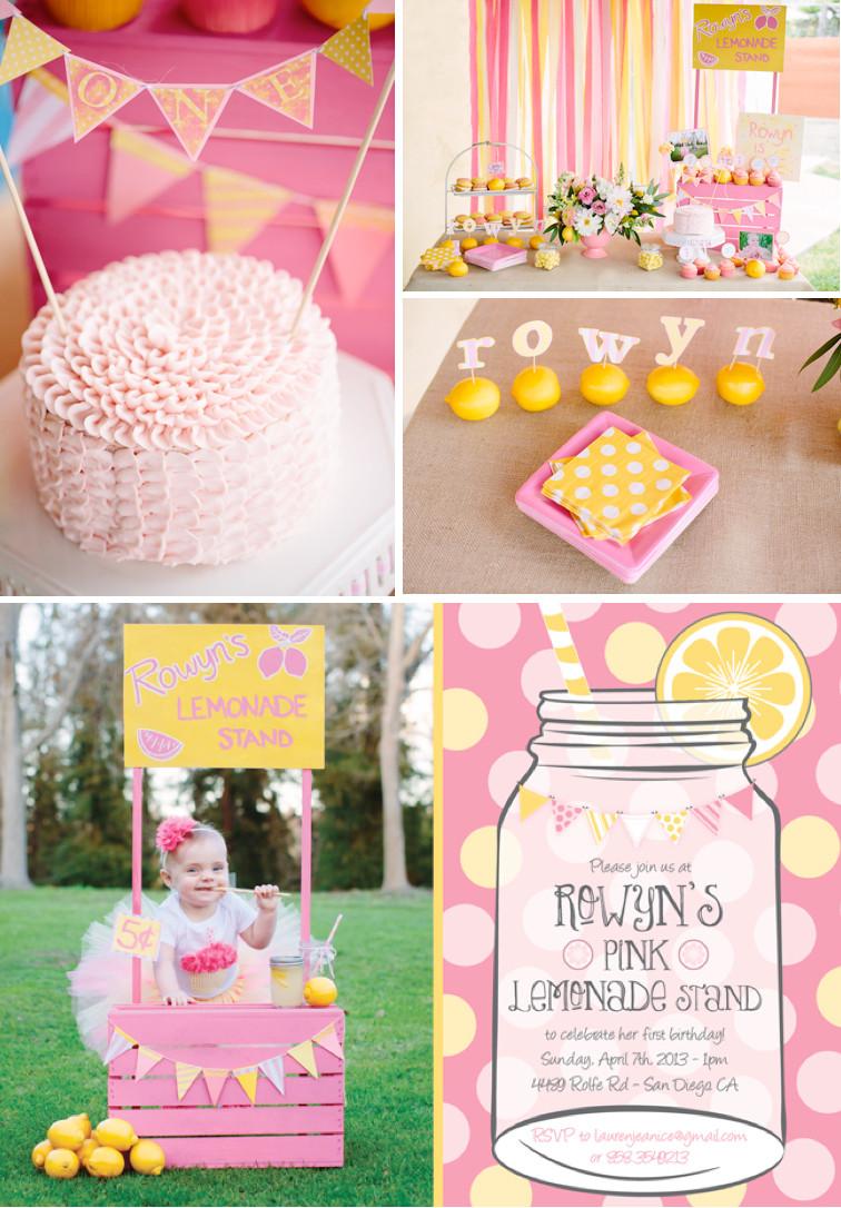 First Birthday Gift Ideas For Girls  Kara s Party Ideas Pink Lemonade Girl Summer 1st Birthday