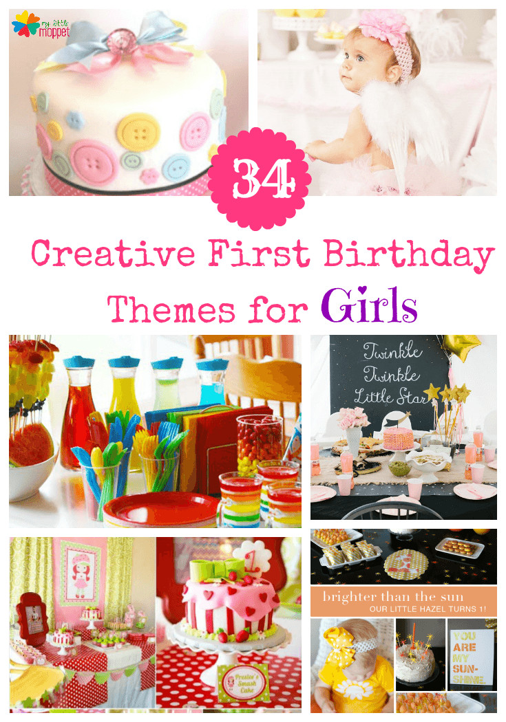 First Birthday Gift Ideas For Girls  34 Creative Girl First Birthday Party Themes and Ideas
